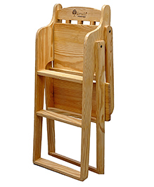 Arcedo Pine Wood Feeding Chair - Brown