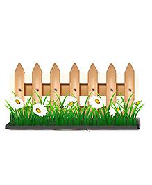 Party Propz Garden Themed Cutout Green - Width 58.4 Cm