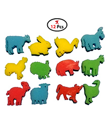 Party Propz Growing Animal Figures Pack Of 12 - Multicolour