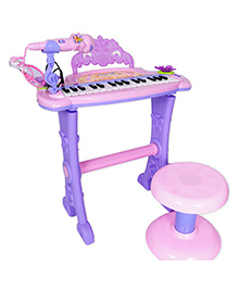 Toys Bhoomi Buddy Fun Electronic Symphonic Piano With Detachable Microphone - Pink & Purple - 2272384