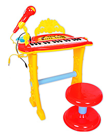 Toys Bhoomi Buddy Fun Electronic Symphonic Piano With Detachable Microphone - Pink & Purple