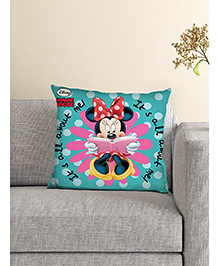 Athom Trendz Disney Cushion And Cover Minnie Mouse Print - Sea Green - 2272917
