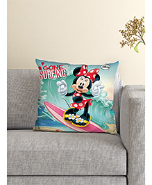 Athom Trendz Disney Cushion And Cover Minnie Mouse Print - Sea Green