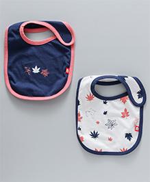 Nino Bambino Organic Cotton Bib Set Pack Of 2- Cream & Navy Blue