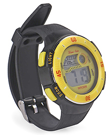 Digital Wrist Watch - Black & Yellow