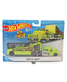 Hot Wheels Rock N Race Truck With Car - Green