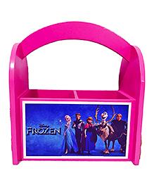 Li'll Pumpkins Frozen Wooden Pen Stand - Pink & Blue