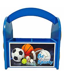 Li'll Pumpkins Sport Design Wooden Pen Stand - Blue