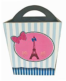 Li'll Pumpkins Eiffel Tower Design Wooden Pen Stand - Pink & Blue