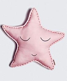 Masilo Linen For Littles Organic Cotton Star Shape Cushion - Pink