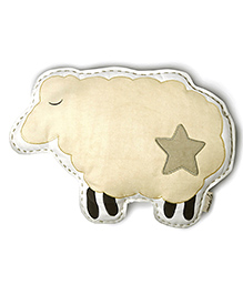 Masilo Linen For Littles Organic Sheep Shape Cushion - Cream