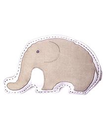 Masilo Linen For Littles Organic Elephant Shape Cushion - Light Brown