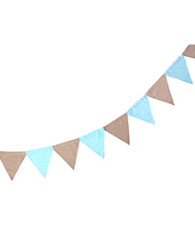 Masilo Linen For Littles Triangle Bunting - Blue Brown