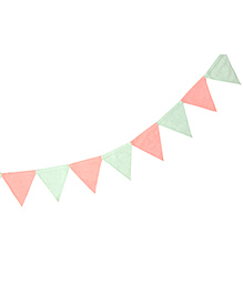 Masilo Linen For Littles Triangle Bunting - Pink Green