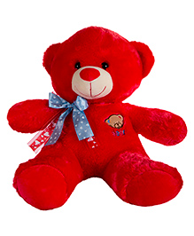 Dhoom Soft Toys Teddy Bear With Ribbon Red - Height 45 Cm