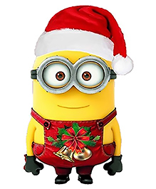 Party Propz Minion Cutout Yellow & Red - Height 50.8 Cm