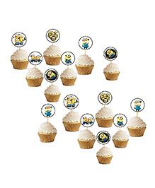 Party Propz Minions Cupcake Topper Cream & White - 14 Pieces