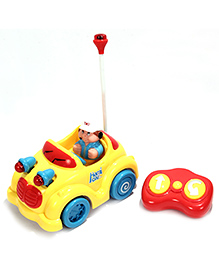 Toys Bhoomi Remote Control Cartoon Car - Red & Yellow