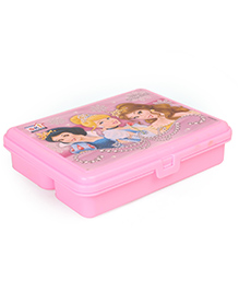 Disney Princess Themed Lunch Box With Fork - Pink