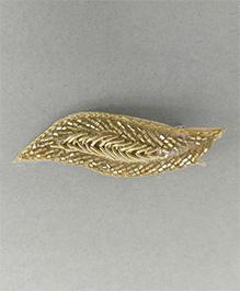 Tiny Closet Leaf Design Hair Clip - Golden