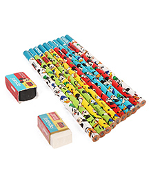 Apsara Disney Mickey Mouse Pencils With Eraser & Sharpener - Set Of 10