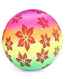 Flower Print PVC Soft Ball Multicolour - ( Print May Vary )