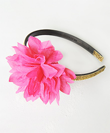 Lime By Manika Flower Hair Band - Pink