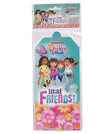Dora Invitation Card Pack Of 10 - Blue