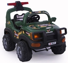 Fab N Funky Battery Operated Power Wheels Jungle Jeep Ride-on