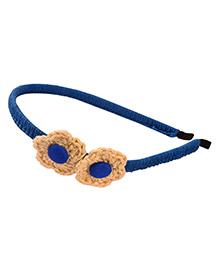 Knotty Ribbons Crochet Hair Band - Dark Blue