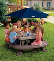 LIttle Tikes - Fold N Store Table With Market Umbrella