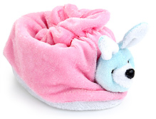 Morisons Baby Dreams - Rabbit Appliqued Baby Booties - FA 25