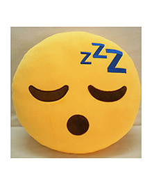 Frantic Sleeping Smiley Plush Cushion - Yellow