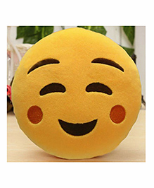 Frantic Relaxed Smiley Plush Cushion - Yellow