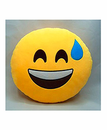 Frantic Happy Smiley Plush Cushion - Yellow
