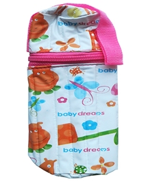 Morisons Baby Dreams Printed Feeding Bottle Cover Pink - Fits Bottle Up To 150ml