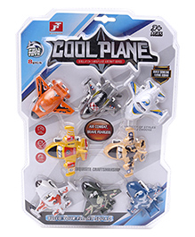 Marbles Pull Back Action Cool Plane Set Multicolor - Pack Of 8