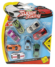 Marbles Pull Back Action Super Racing Car Set Multicolor - Pack Of 8