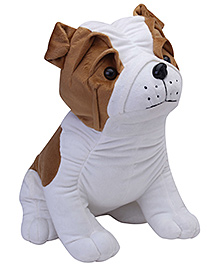 Play N Pets Big Sitting Bull Dog Soft Toy