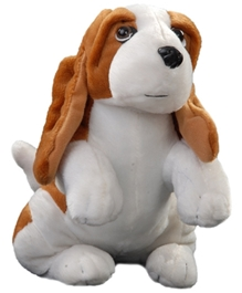 Play N Pets - 28 cm Soft Toy Dog Brown