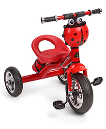 Tricycle With Water Bottle Carrier Ladybug Design- Red