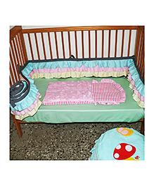Kadam Baby Cotton Bed Bumper With Polyfill - Multicolour
