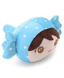 Girl Face Plush Musical Hammer - Sky Blue