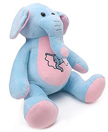 Dimpy Stuff Elephant Soft Toy Sky Blue - Height 46 Cm