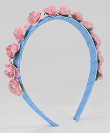 Tia Hair Accessories Rose Applique  Hairband - Baby Pink