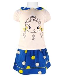 Nauti Nati - Printed Top And Skirt Set