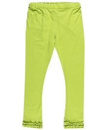 Nauti Nati - Plain  Ruffled Green Legging