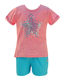 Nauti Nati - Sequins Decorative Top With Shorts Set