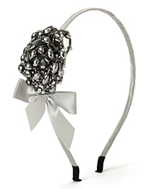 Little Hip Boutique Beads Flower Hair Band - Silver