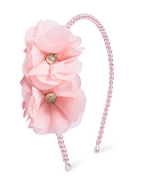 Little Hip Boutique Pin Pearl Flower Hair Band - Pink